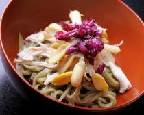 東京都新宿区産 玉締一番搾りごま油使用 特製 和え笹香うどん