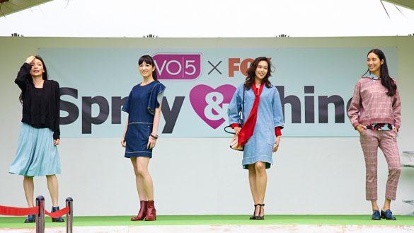 宮崎京がプロデュースしたファッションショーの様子 1つめのテーマは「girls cafe hopping」