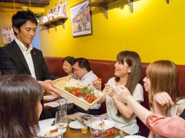 食の交流会「北海道名寄市の日」の様子