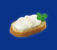 パンに塗ったデザートヨーグルト