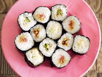 手巻き寿司(著者の盛り付け)