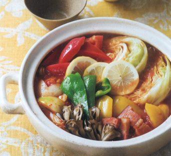 塩レモン トマト煮込み鍋(ESSE2015年1月号より)