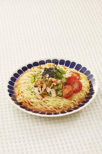 ピリ辛ヘルシー☆ささみとオクラの中華麺