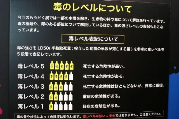 館内では毒のレベルを毒薬の本数で表現