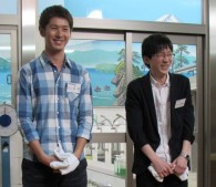 寺田さんのイケメン・オーラに恐縮する大森翔太さん(21歳)