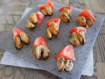 貝×酢トマト
