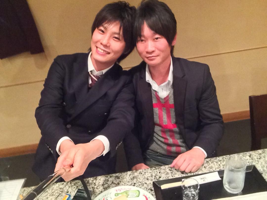 七崎さん(左)と彼のパートナー