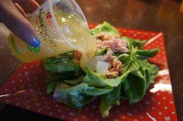 サラダ+「フルーツセラピー グレープフルーツ」