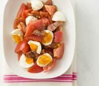 カリカリベーコンのトマトサラダ