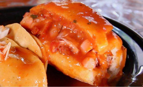 びちょびちょのサンドイッチ(グアダラハラ メキシコ)