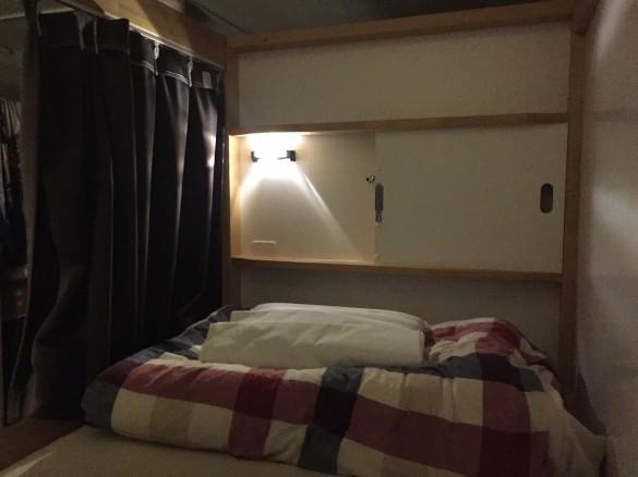 サンチャゴゲストハウスのベッド