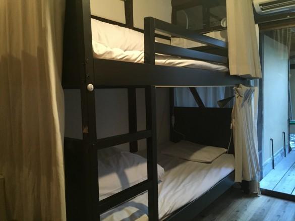 ゲストハウス糸屋の二段ベッド