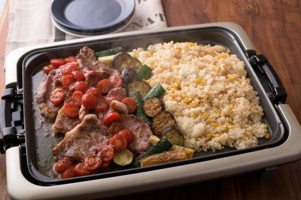 肉と野菜とライス