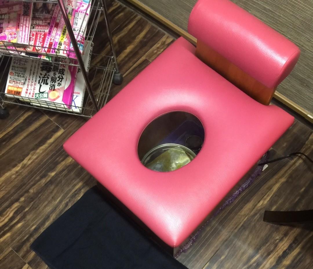 よもぎ蒸し椅子