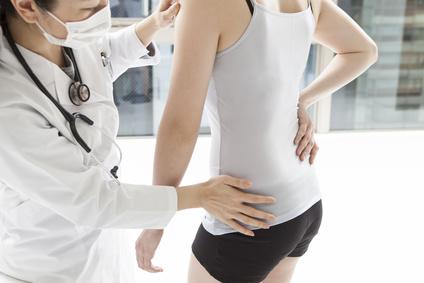 Patient hip hurts