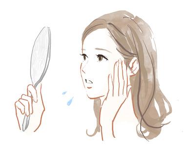 顔汗に悩んでいる女性は多い
