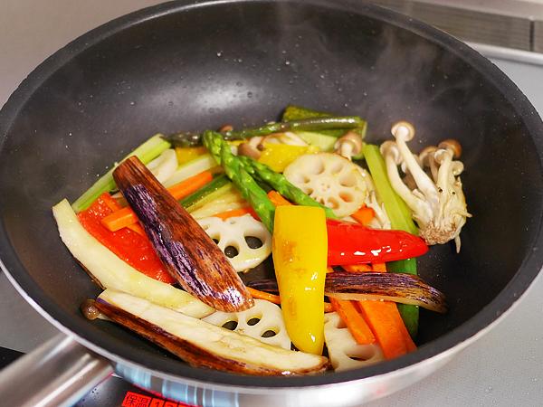 作り方(2) 野菜を焼く