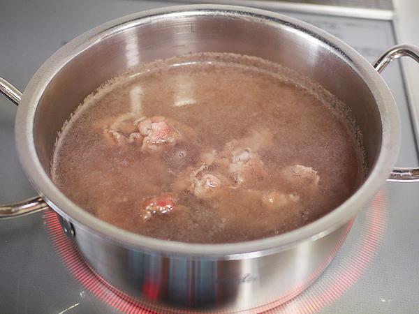 コツ(2)お肉2~3枚をしゃぶしゃぶ