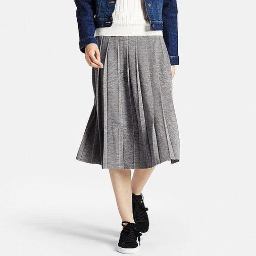 メリノブレンドプリーツスカート