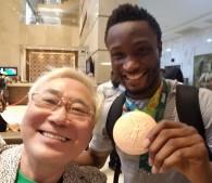 銅メダル決定後、「ミゲルが来たぜなう」