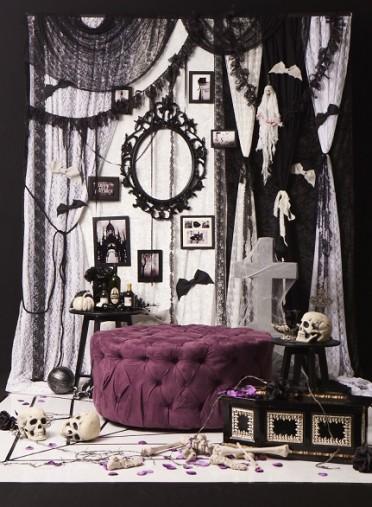 大人ガーリーなハロウィンの飾りつけ