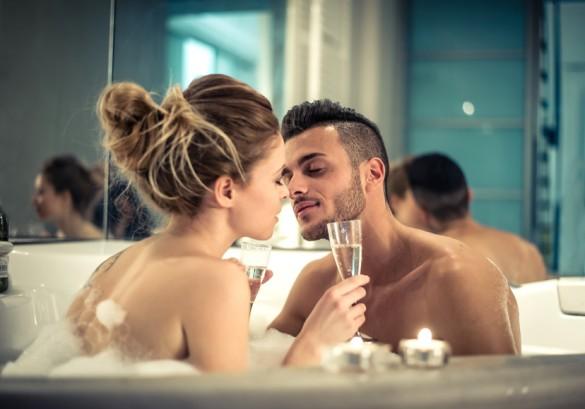 セックスの前後にシャワーを浴びる