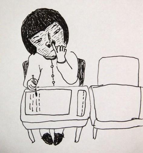 鼻くそをほじるユカリちゃん