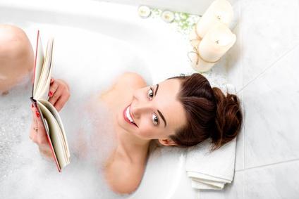 入浴して読書