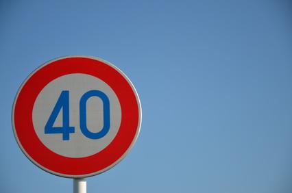 スピード注意40才