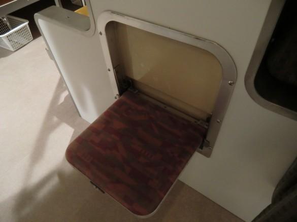 「トレインホステル北斗星」小さな補助椅子