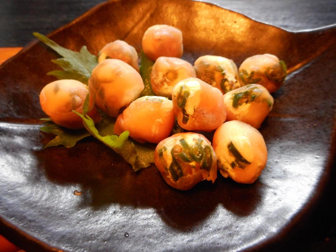 青唐辛子の生ハムチーズ巻