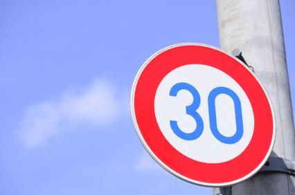 速度制限30km