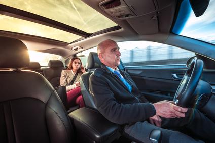 タクシー運転手と女性客