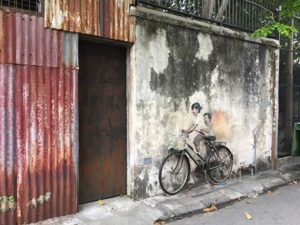 自転車のストリートアート
