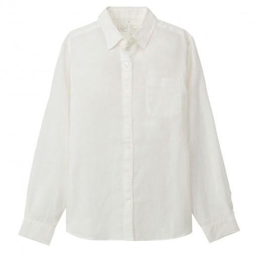 フレンチリネン洗いざらしシャツ