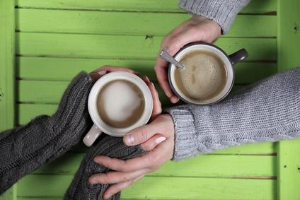 カップルでコーヒー