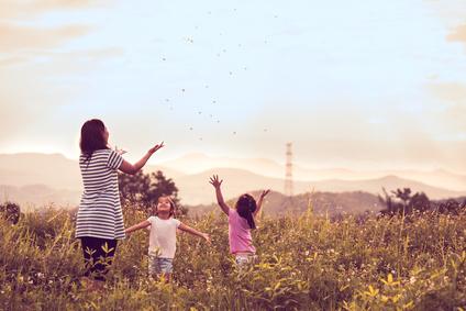 母親と子供たち