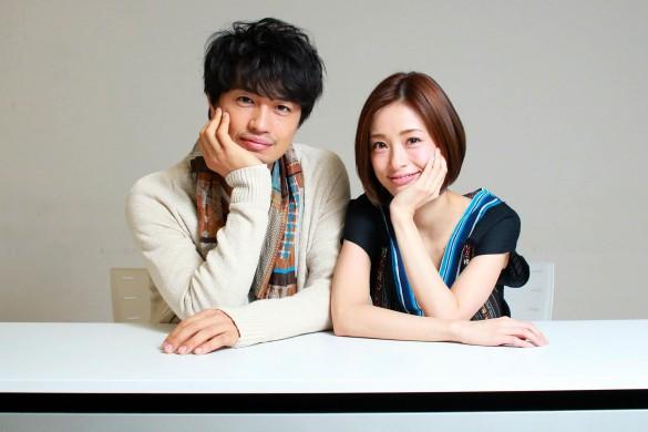 左から、斎藤工さんと上戸彩さん