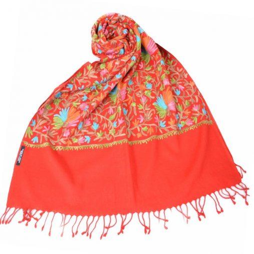 インド製 手刺繍入ストール
