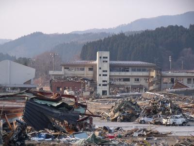東日本大震災後の三陸町