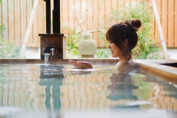 皆生温泉「湯喜望 白扇」の温泉