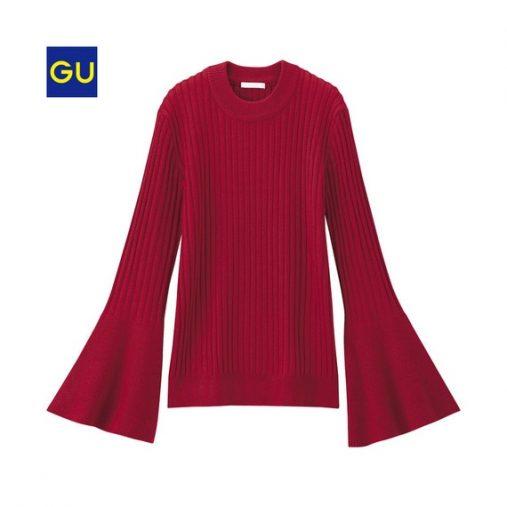 フレアスリーブタイトセーター