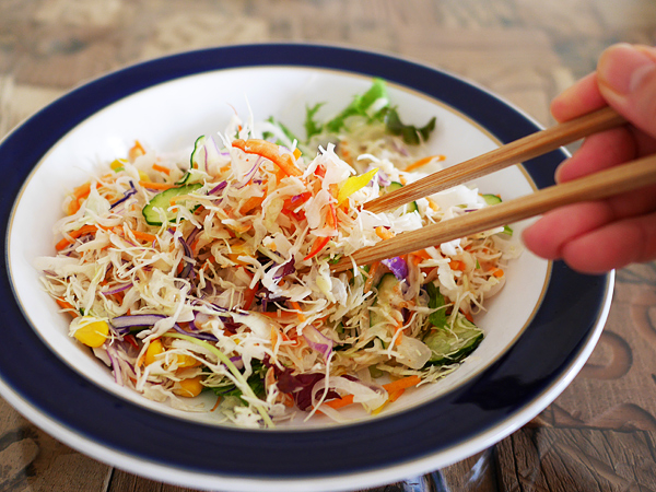 カット野菜がおいしいサラダ 調理手順3