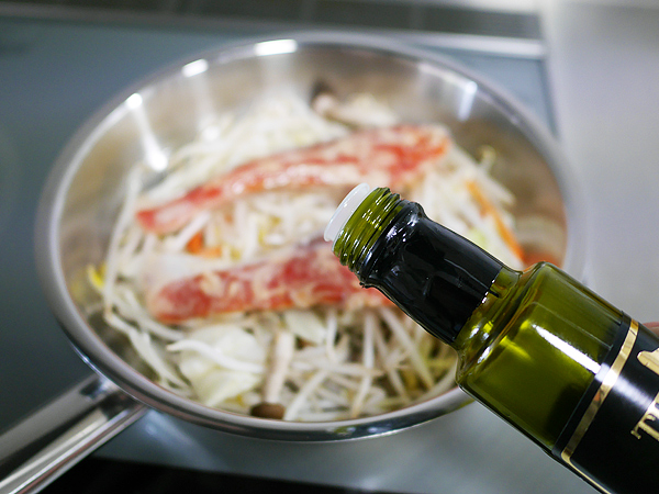 作り方(3) 漬け魚とオリーブオイル