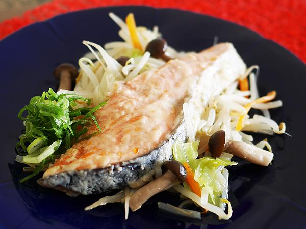 野菜たっぷり魚蒸し 盛り付け