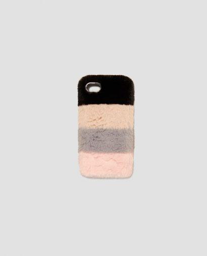 コントラストテクスチャー入り携帯電話ケース