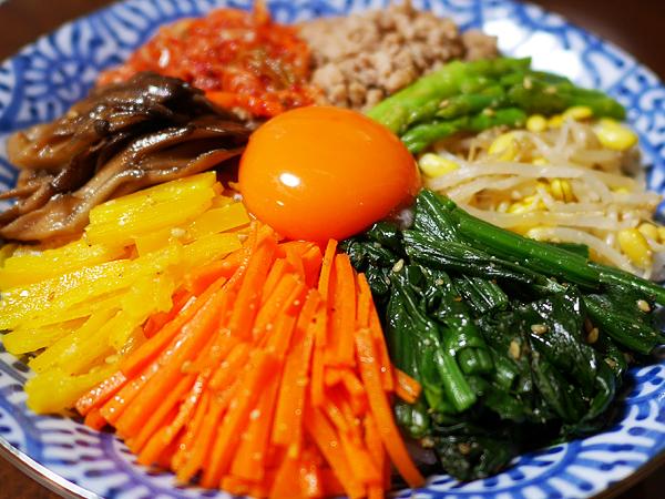 野菜たっぷりビビンバ