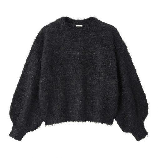 ラメフェザーヤーンセーター