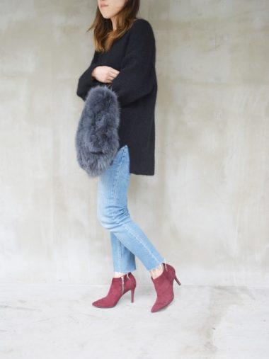 赤いショートブーツ