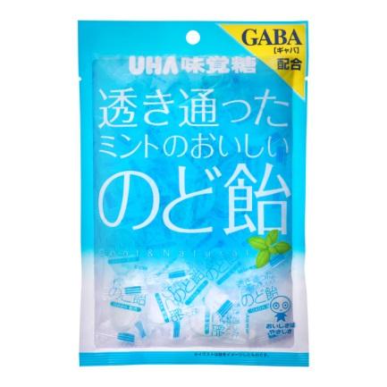 透き通ったミントのおいしいのど飴(UHA味覚糖)